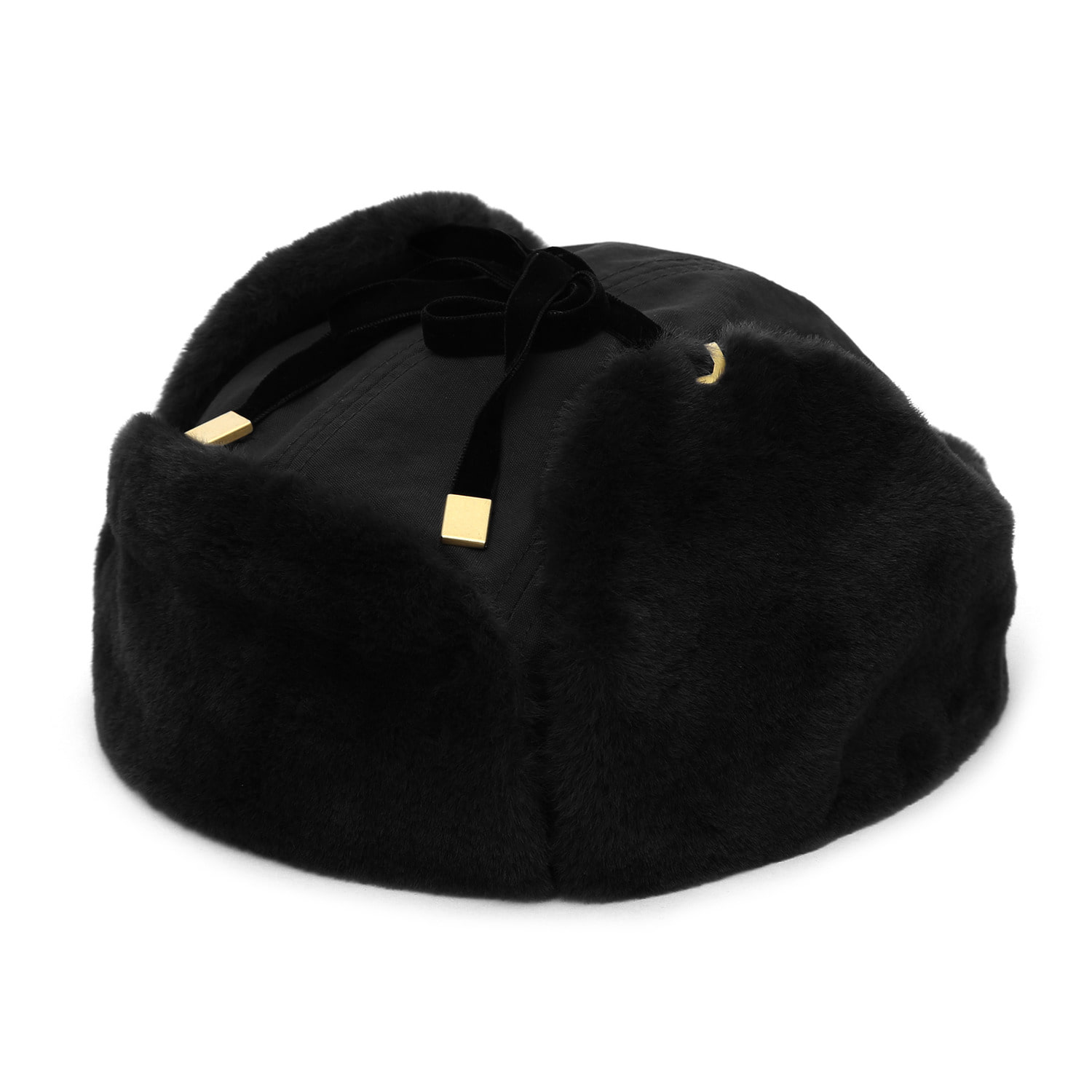FLIGHT RABBIT HAT / FUR / BLACK