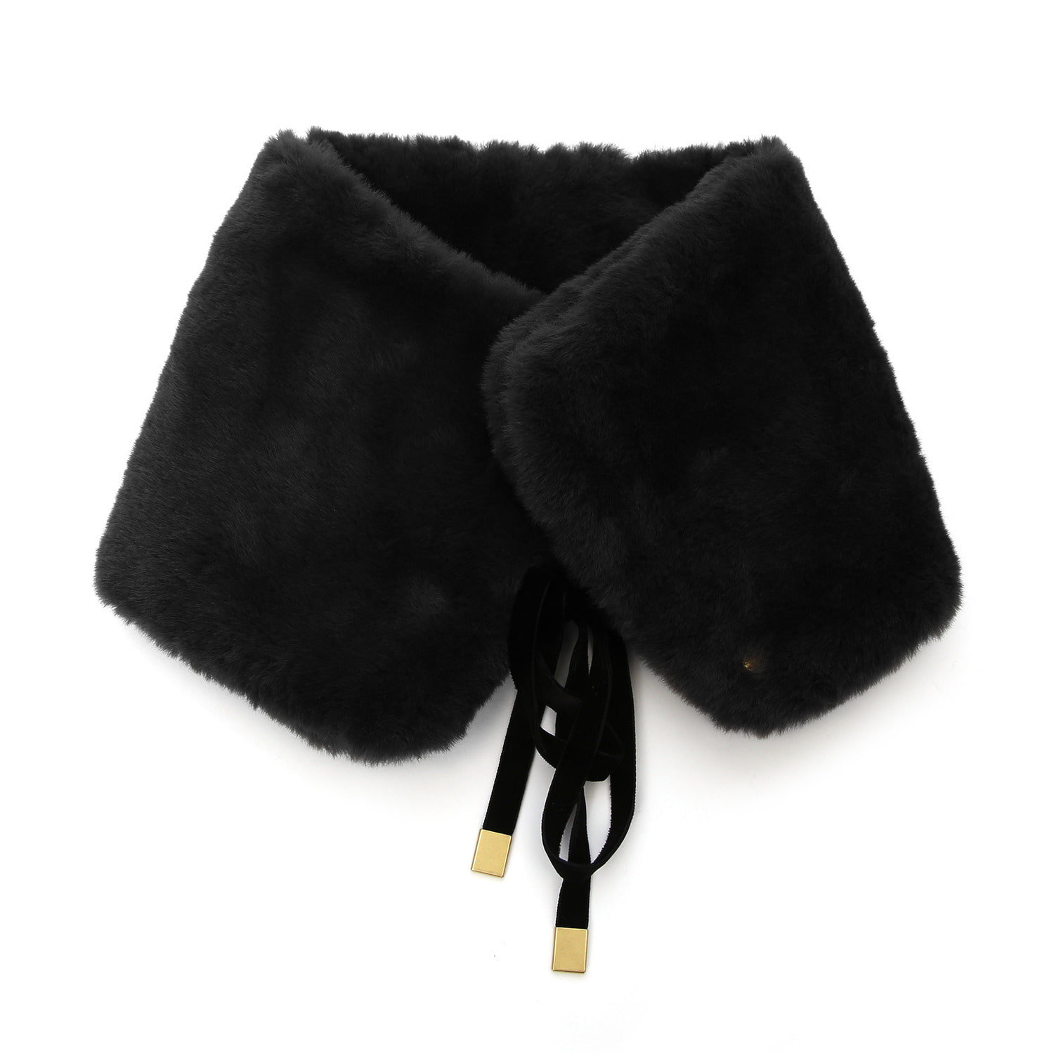 NECK WARMER / FUR / BLACK