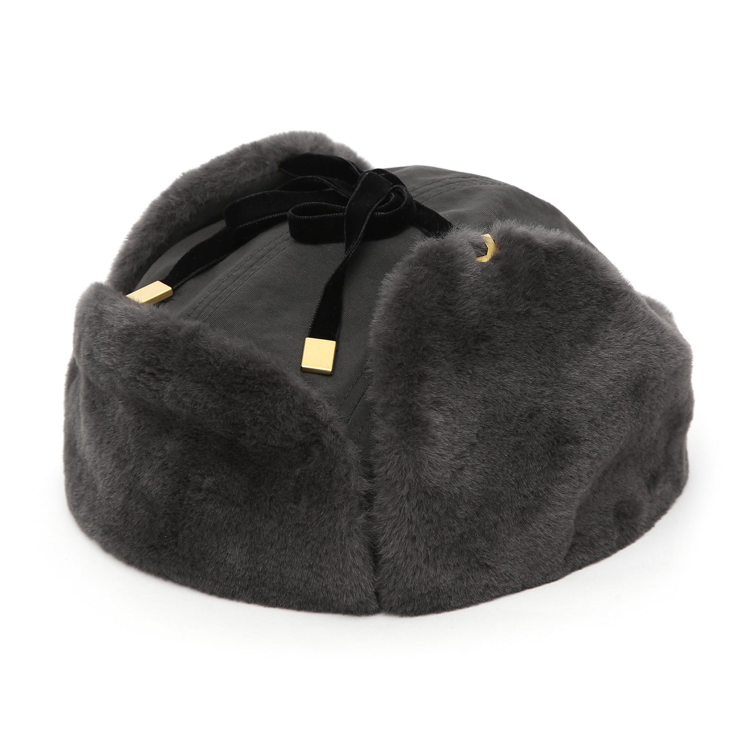FLIGHT RABBIT HAT / FUR / CHARCOAL