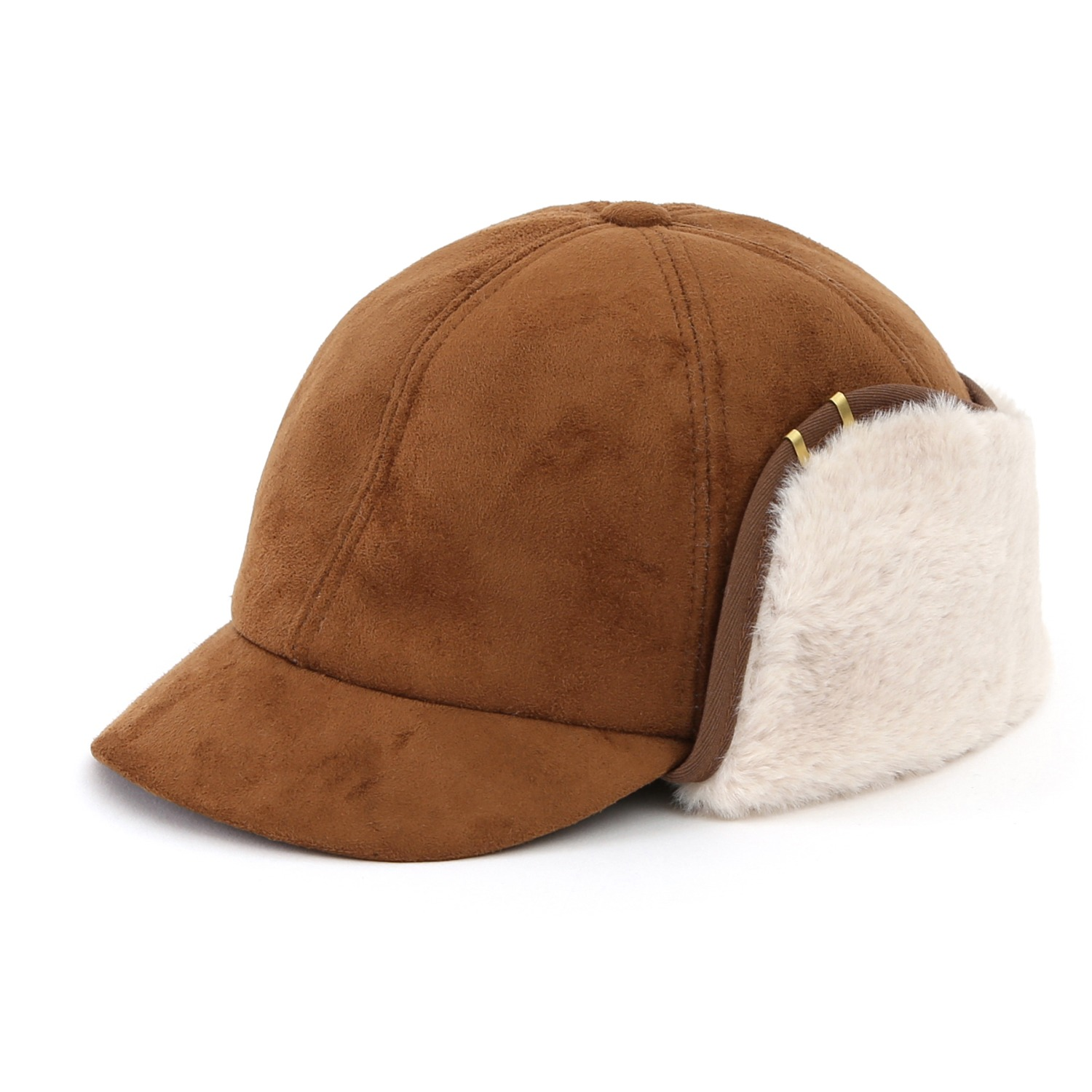 SHORT VISOR EAR FLAP / MOUTON / BROWN