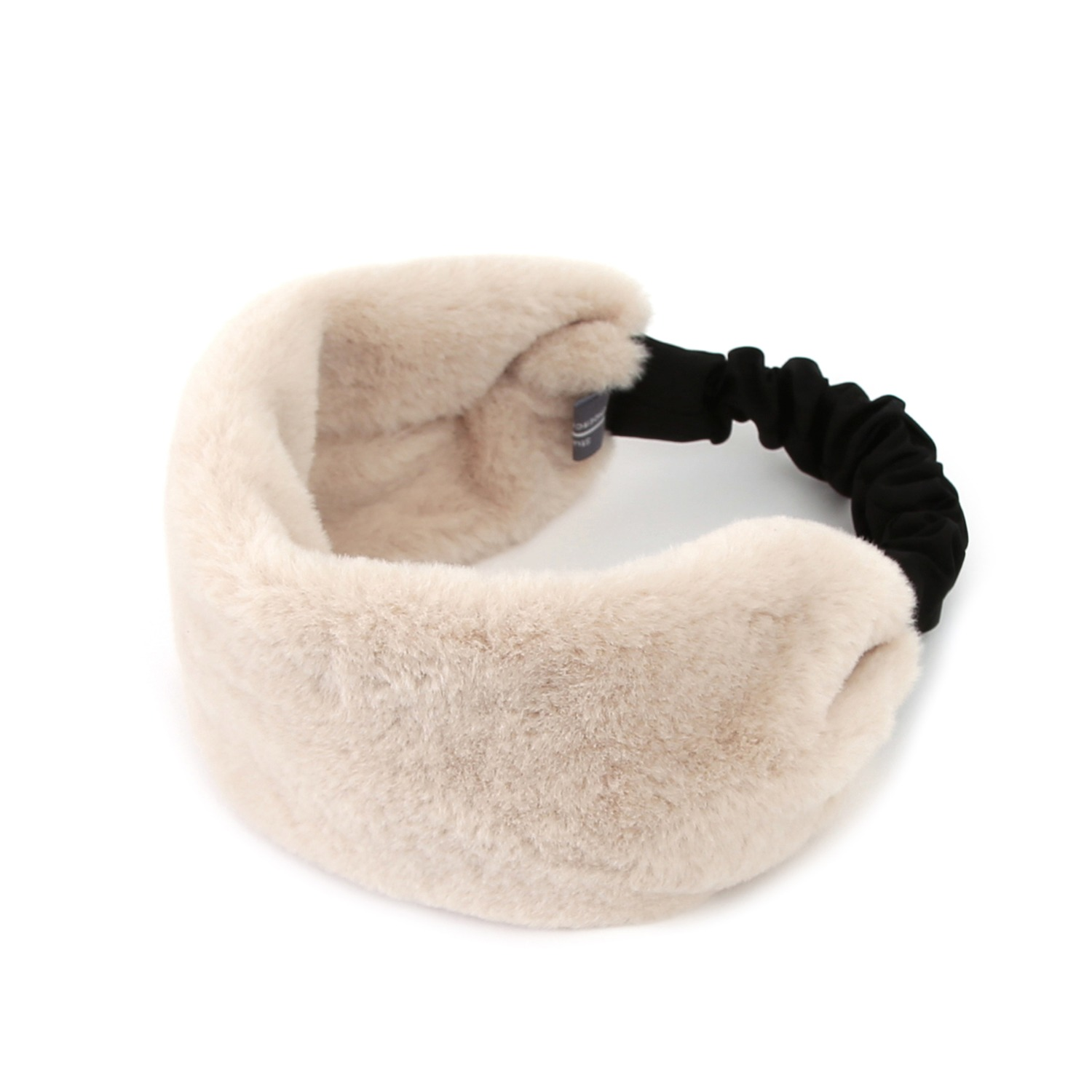 SINGLE HAIR BAND / FUR / IVORY