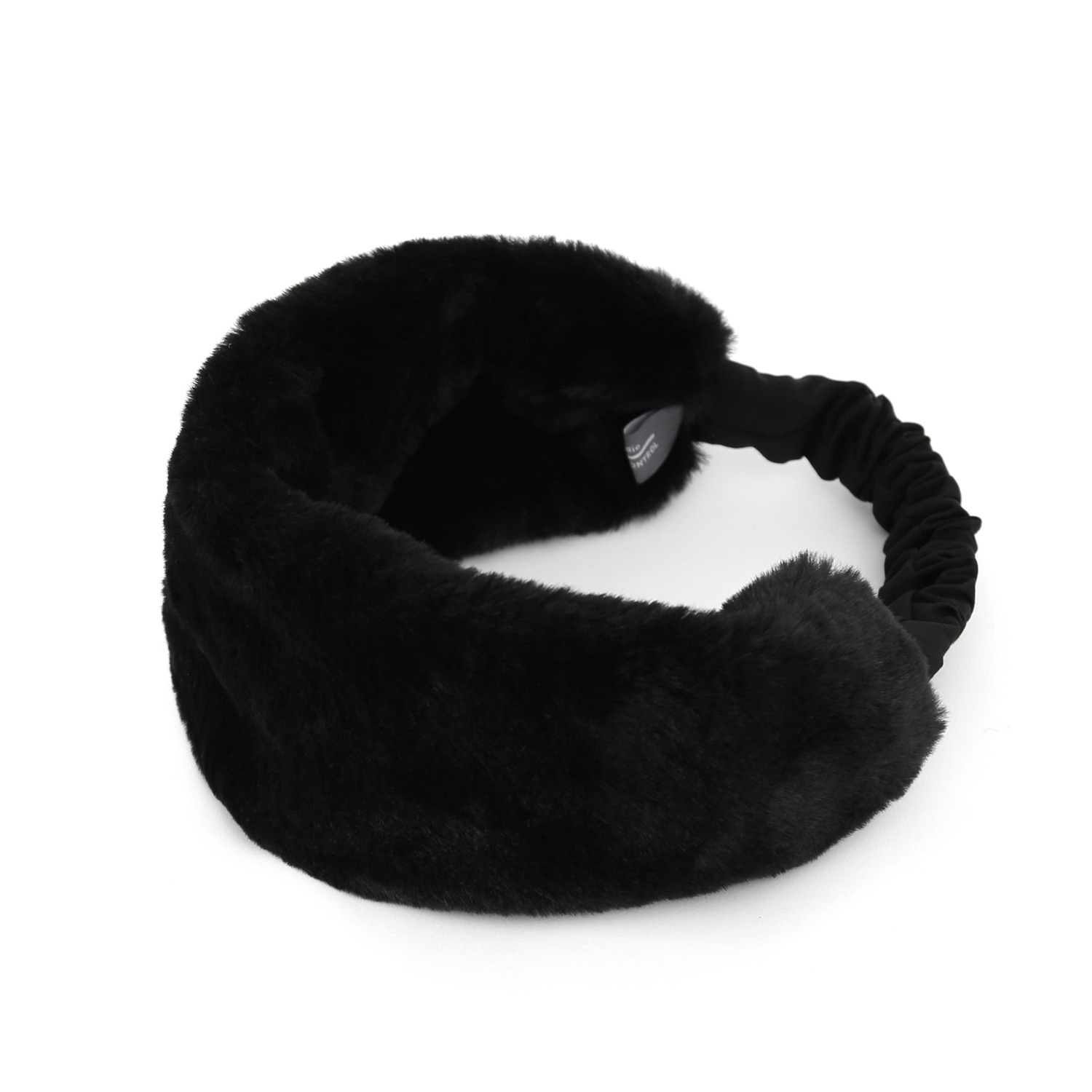 SINGLE HAIR BAND / FUR / BLACK