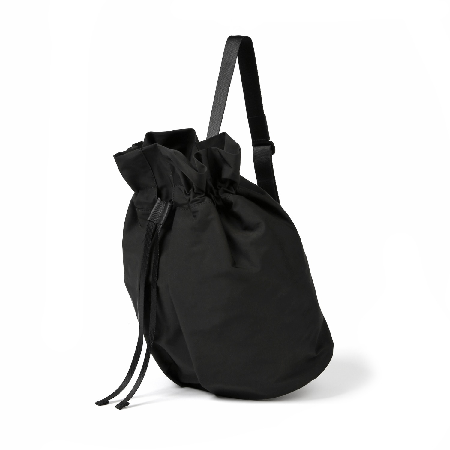 3WAY STRING BAG / WRINKLE / PC / BLACK