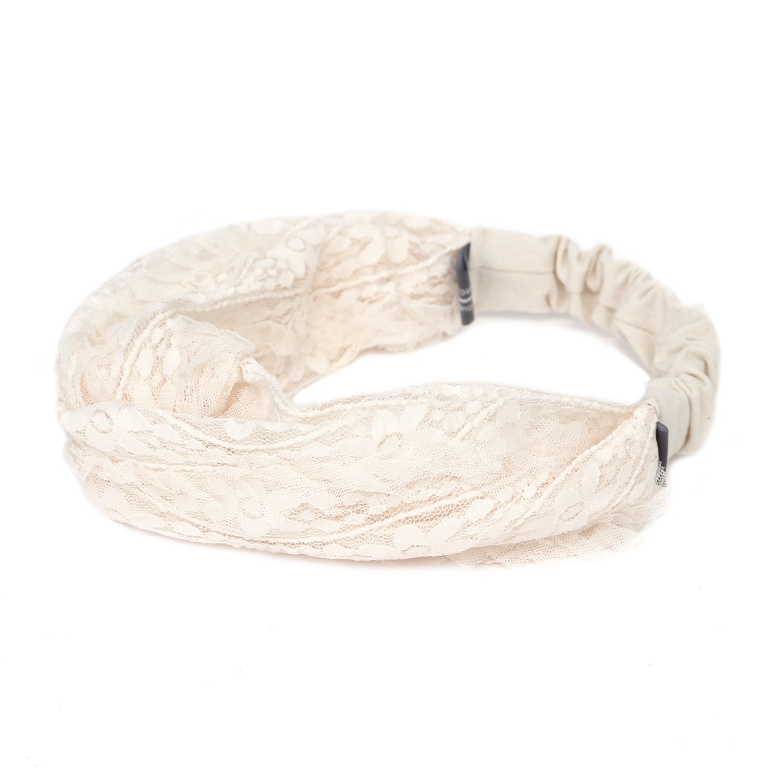 CROSS HAIR BAND / WIDE / BLOOM / ORIGIN BEIGE