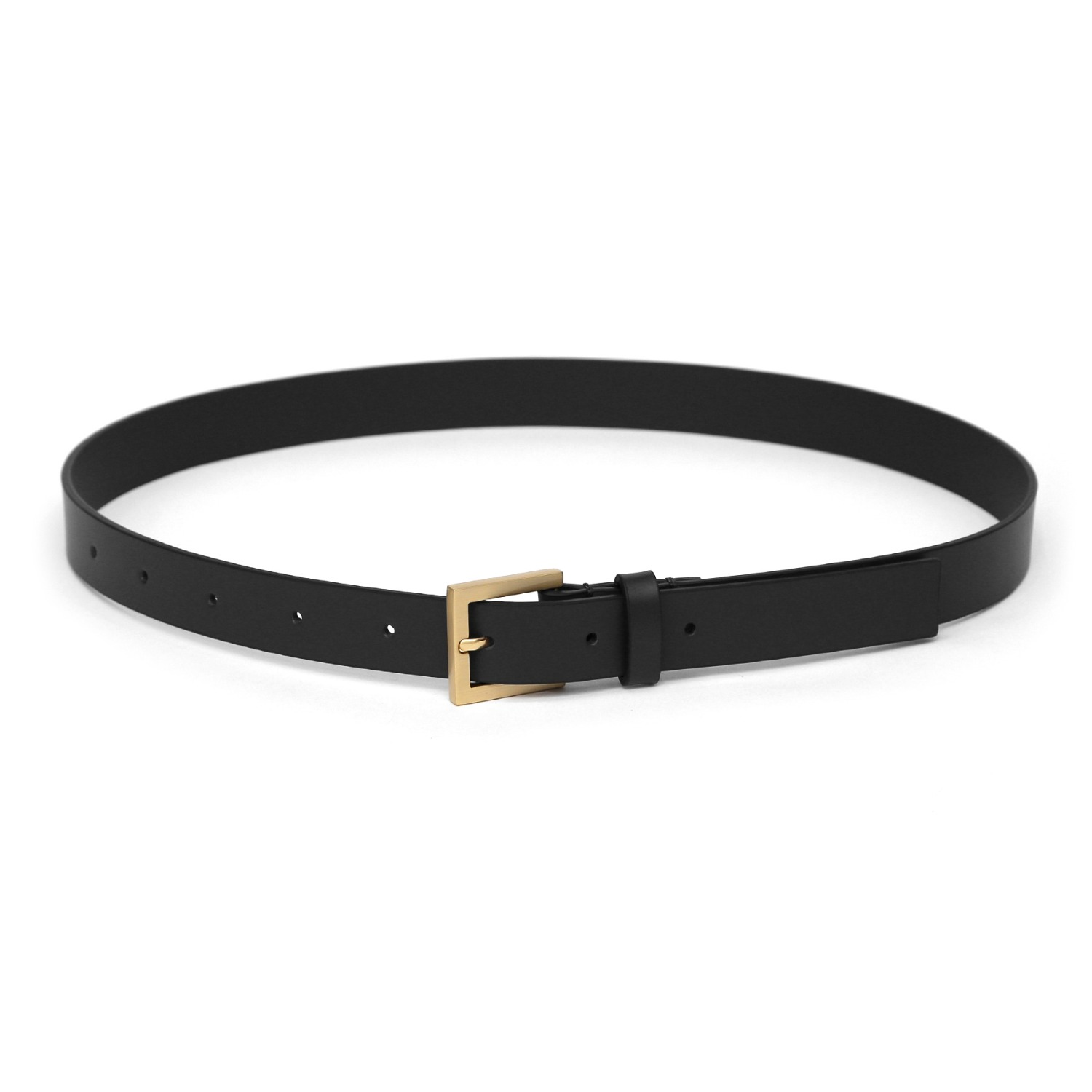 SQUARE BELT / LEATHER / BLACK