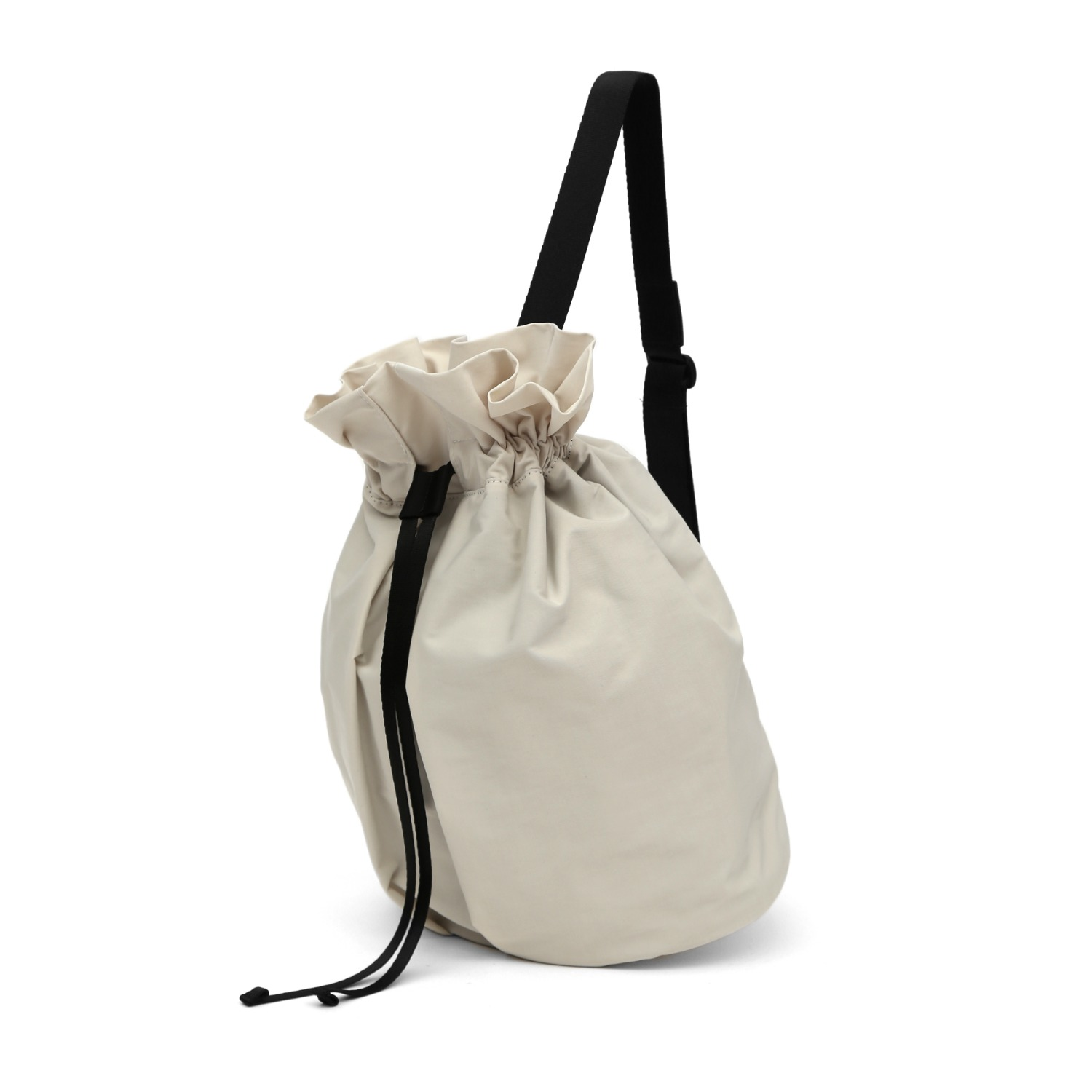 3WAY STRING BAG / WRINKLE / PC / MILK