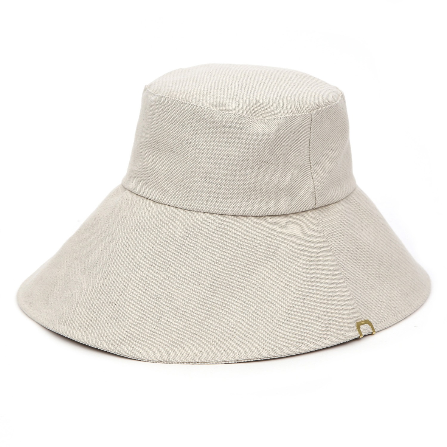 WIDE BUCKET / BIG EYE LINEN / SAND BEIGE