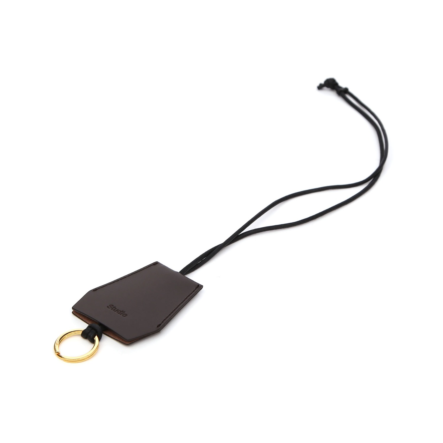 NECKLACE KEY RING / D BROWN