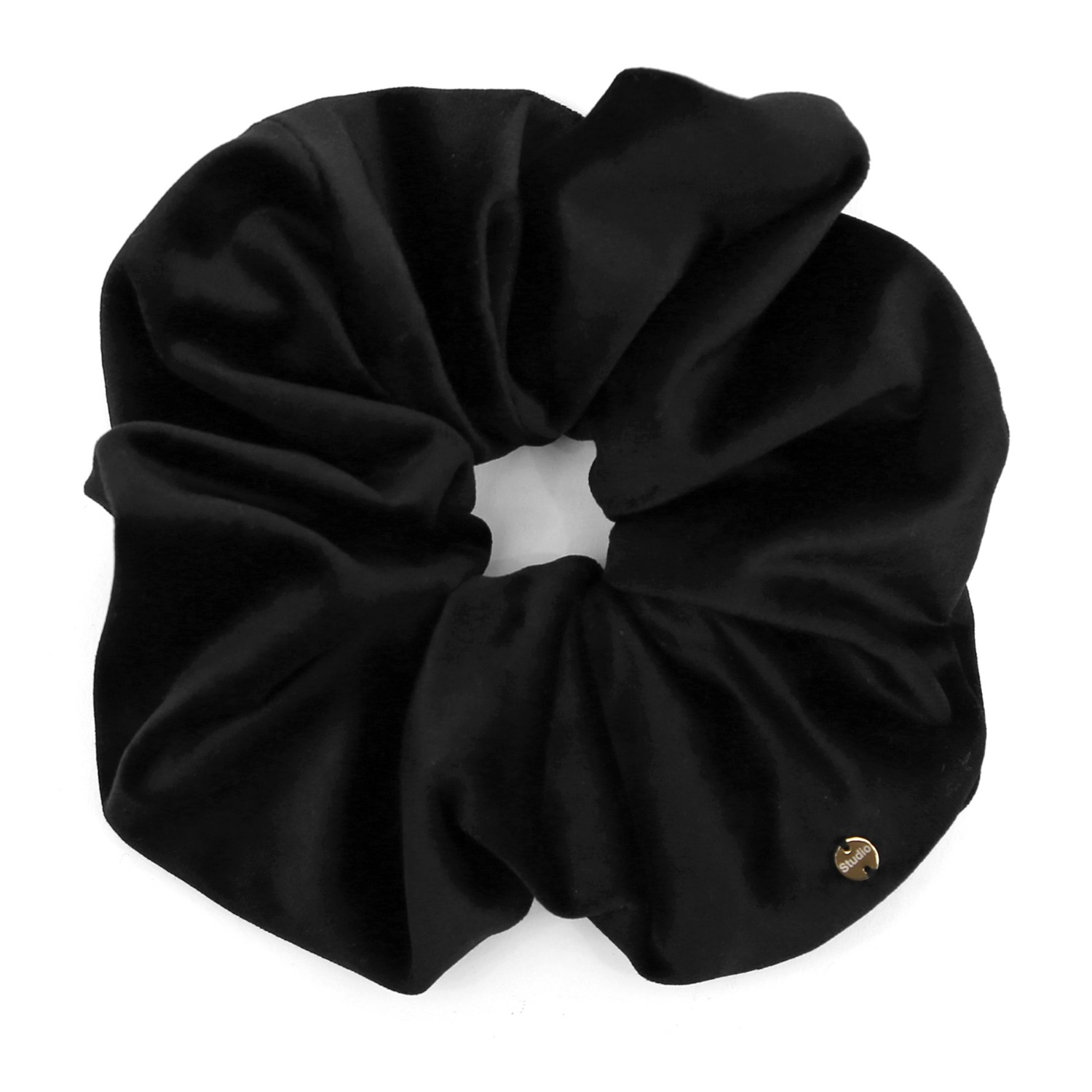 SCRUNCHIE / JEWEL / VELVET / BLACK