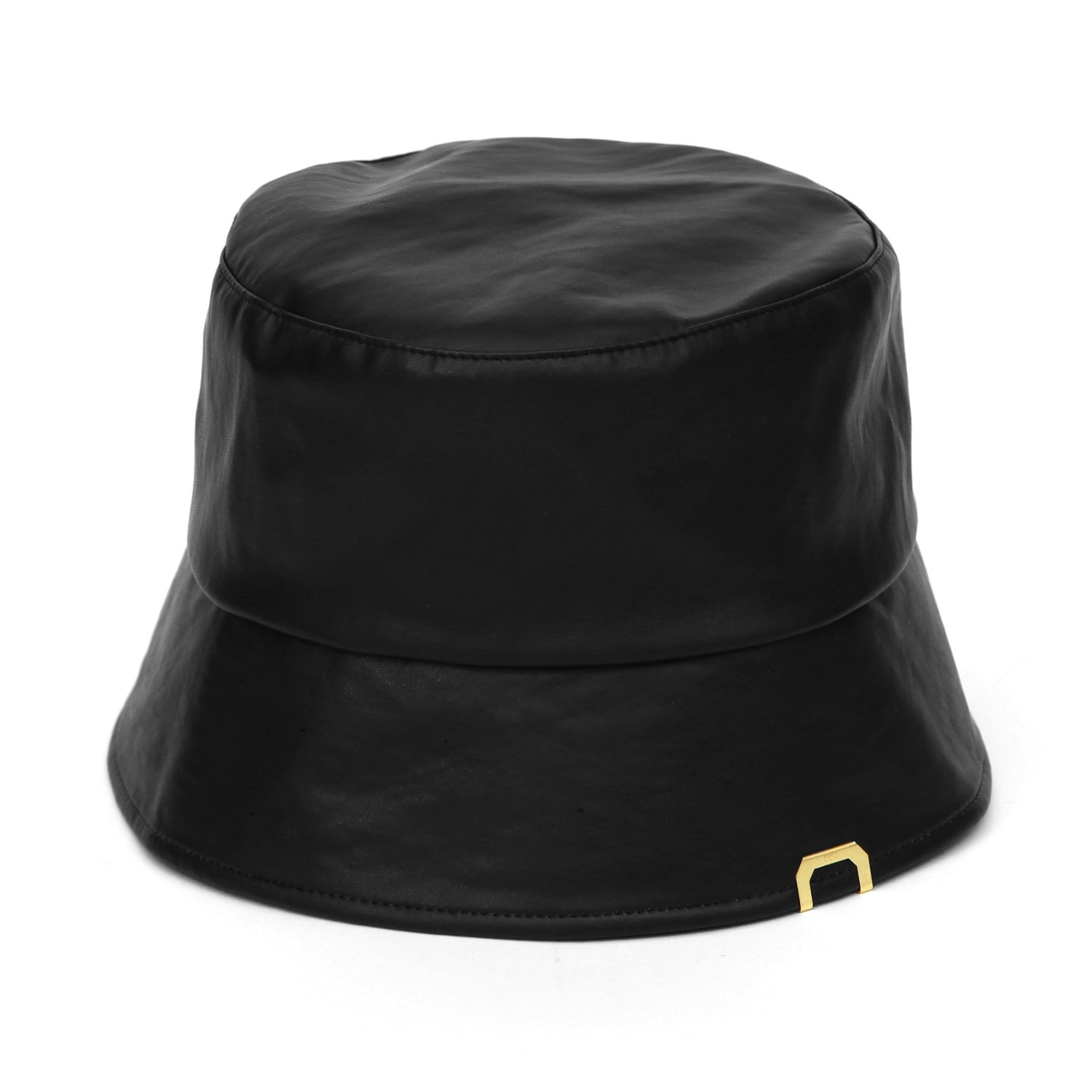 PLAIN BUCKET / LEATHER / M BLACK