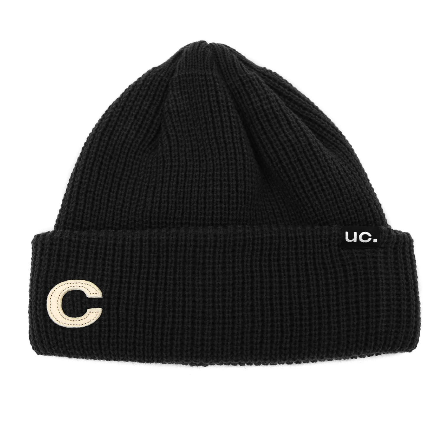 BEANIE / MARINE FIT / DOUBLE TAB / M BLACK