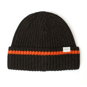 BEANIE / BOLD FIT / WOOL / ONE STRIPE / M OLIVE