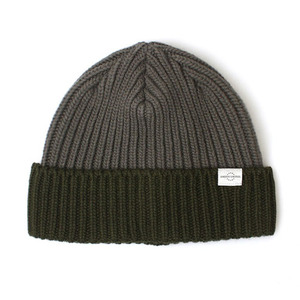 BEANIE / BOLD FIT / WOOL / BLOCK / OLIVE